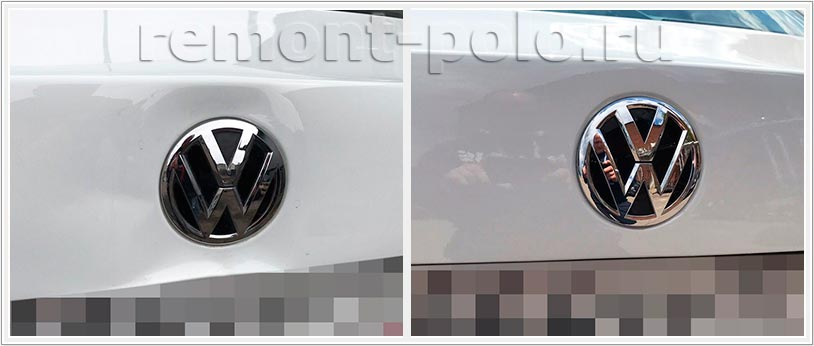 Ремонт крышки багажного отсека Volkswagen Polo седан