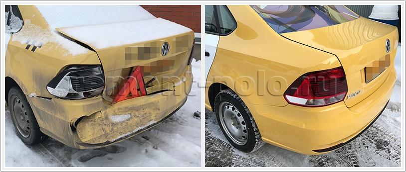 Ремонт задней части кузова VW Polo
