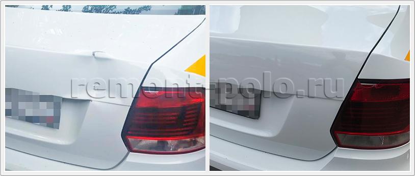 Ремонт крышки багажного отсека VW Polo седан