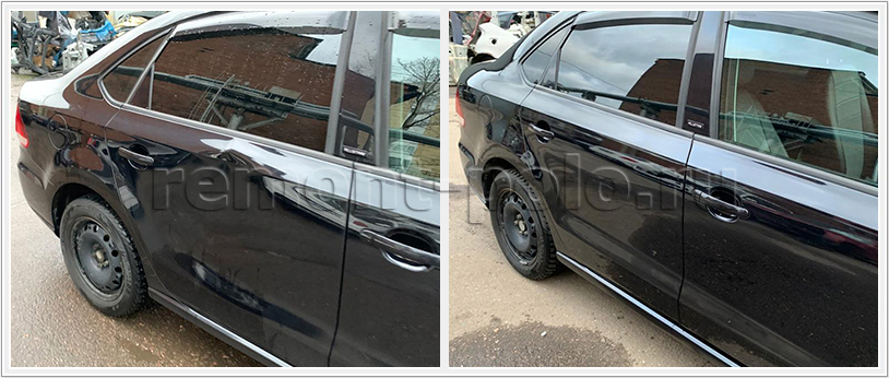 Кузовной ремонт с заменой и покраской деталей VW Polo