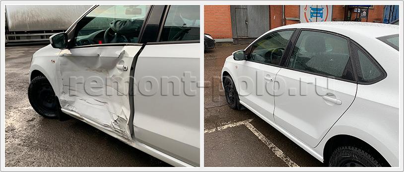 Замена двери VW Polo и ремонт проемов