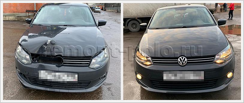 Восстановление VW Polo с ремонтом и заменой деталей