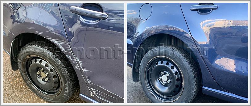 Ремонт и покраска деталей правой стороны кузова Поло