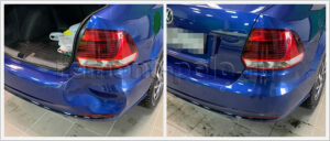 Замена и покраска заднего бампера VW Polo седан