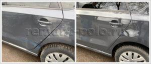 Ремонт и восстановление ЛКП деталей левой части кузова VW Polo
