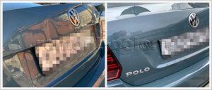 Ремонт и покраска крышки багажника VW Polo