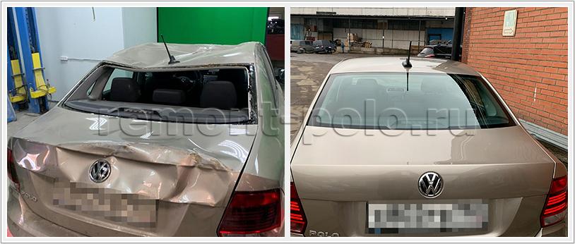 Восстановление VW Polo с серьезными повреждениями кузова