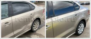 Ремонт и замена деталей левой части кузова Поло