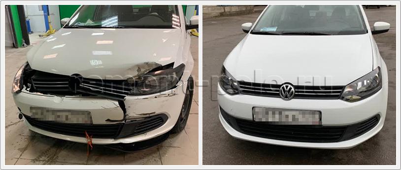 Ремонт VW Polo седан с заменой деталей кузова