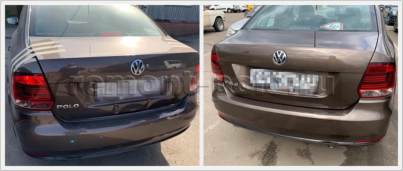Кузовной ремонт VW Polo седан