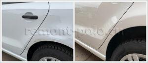 Ремонт и покраска деталей левой стороны кузова VW Polo