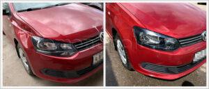 Замена переднего крыла VW Polo sedan