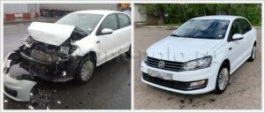 Ремонт VW Polo sedan с значительными повреждениями кузова