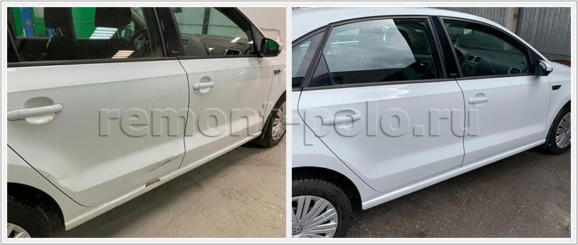 Ремонт дверей и порога VW Polo sedan