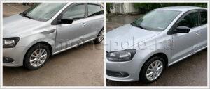 Замена переднего крыла на автомобиле VW Polo sedan