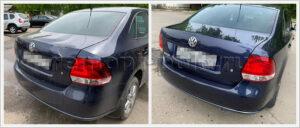 Замена крышки багажника VW Polo sedan