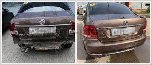 Ремонт задней части кузова автомобиля VW Polo sedan