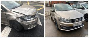Замена крыла, бампера и капота VW Polo sedan