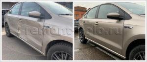 Замена дверей и крыла на Volkswagen Polo седан