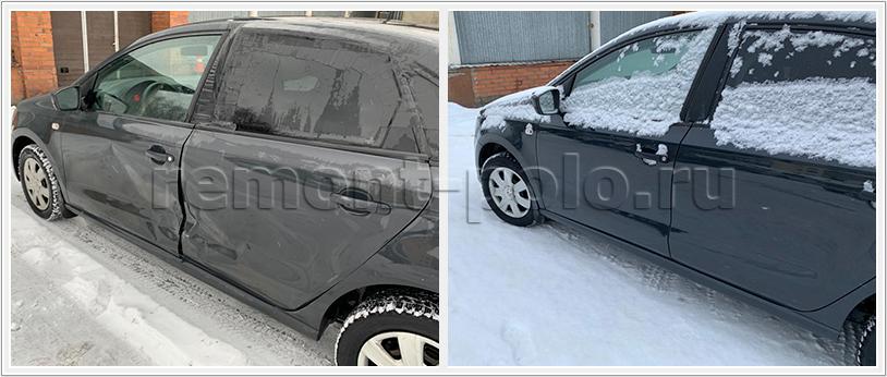 Замена левых дверей VW Polo седан