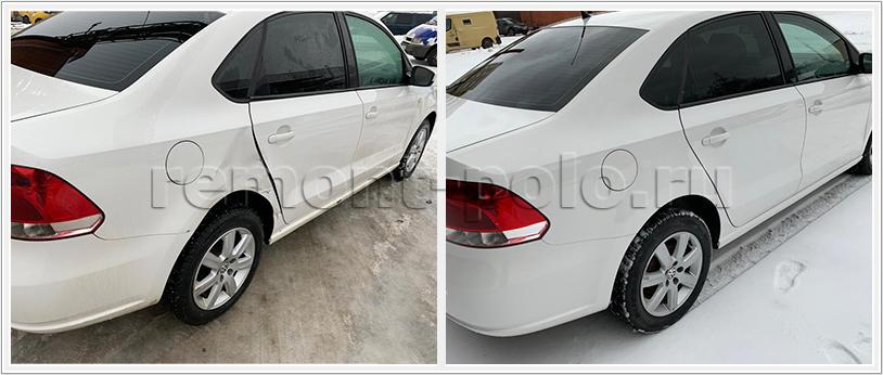 Ремонт кузова VW Polo с устранением дефектов и восстановлением ЛКП
