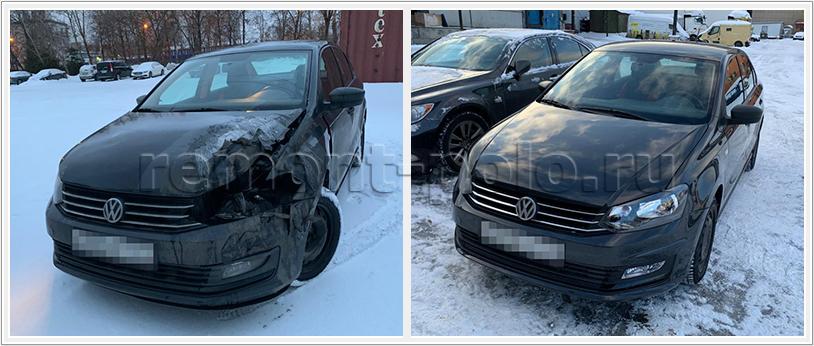 Восстановление VW Polo с заменой деталей и чисткой радиатора