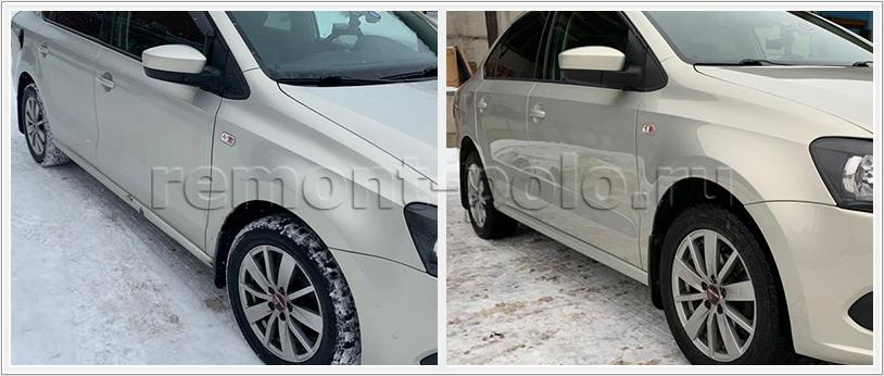 Кузовной ремонт Фольксваген Поло седан с покраской в круг