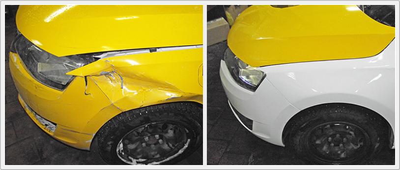 Кузовной ремонт Skoda Rapid