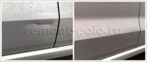 Ремонт двери VW Polo седан