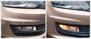 Покраска бампера VW Polo седан