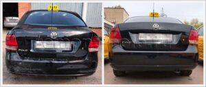 Замена заднего бампера VW Polo седан