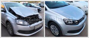 Ремонт передней части кузова VW Polo седан