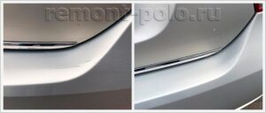 Ремонт заднего бампера Volkswagen Polo седан