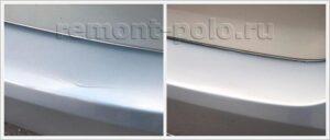 Восстановление ЛКП заднего бампера VW Polo седан