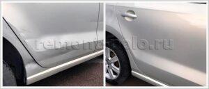 Ремонт дверей и крыла Volkswagen Polo седан
