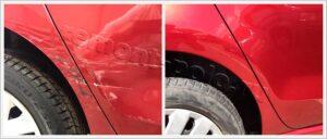 Ремонт и покраска трех элементов кузова Поло седан