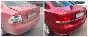 Замена крышки багажника и ремонт бампера Поло седан