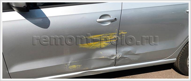 Кузовной ремонт Поло (рестайлинг) с заменой дверей