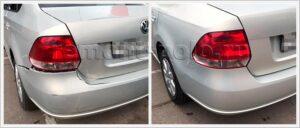 Ремонт задней части кузова VW Polo седан