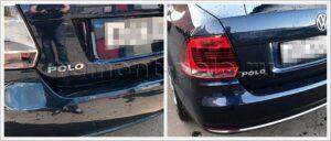 Ремонт крыши, многочисленных потертостей и сколов эмали VW Polo седан