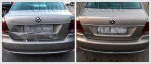Ремонт кузова VW Polo с использованием оригинальных деталей VAG