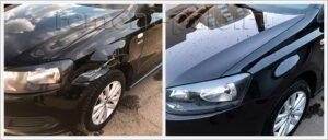 Кузовной ремонт Поло седан с заменой деталей и полной полировкой кузова