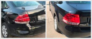Восстановление VW Polo седан с ремонтом заднего крыла