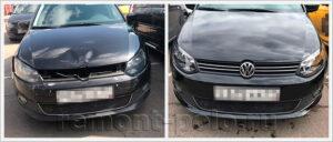 Кузовной ремонт VW Polo седан с серьезными повреждениями