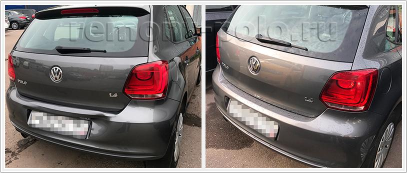 Ремонт кузова VW Polo хэтчбек