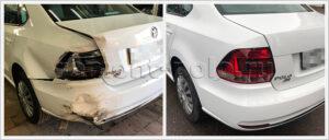 Ремонт VW Polo седан (рестайлинг) с заменой левой боковины