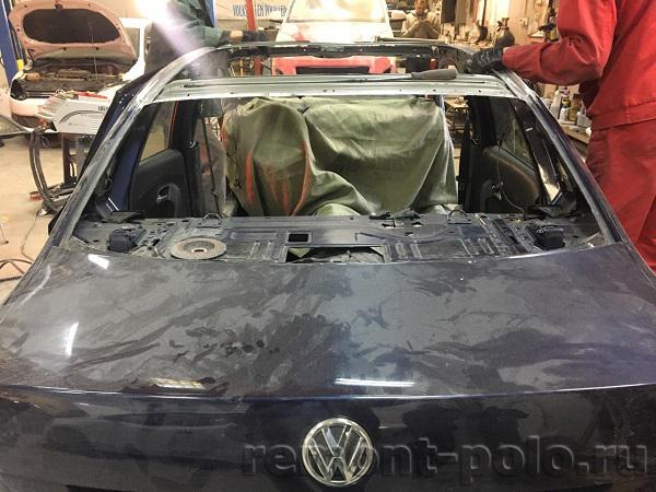 Замена крыши на Volkswagen Polo седан