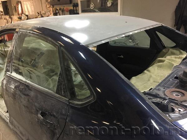 Замена листа крыши Фольксваген поло седан