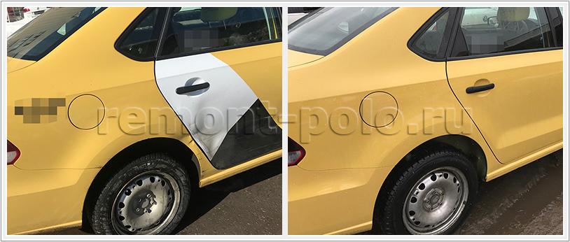 Ремонт кузова Volkswagen Polo седан с заменой двери