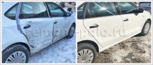 Восстановление VW Polo седан с заменой двух дверей